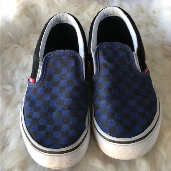 935640437b027e Vans blue and black checkered. M 5a9495409d20f05e5ee7edc3